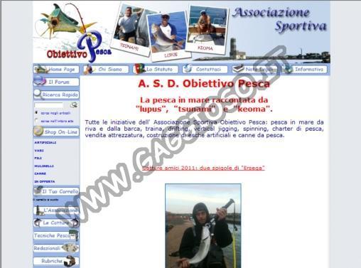 Obiettivopesca, il sito della pesca in mare